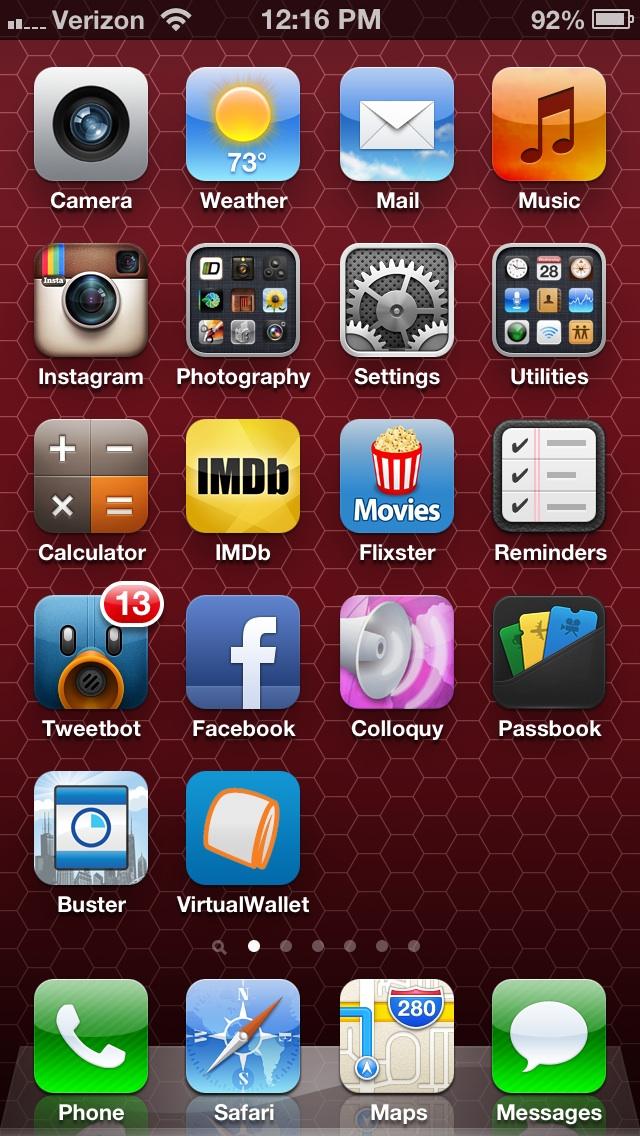 iOS 6.0.1 on the iPhone 5.