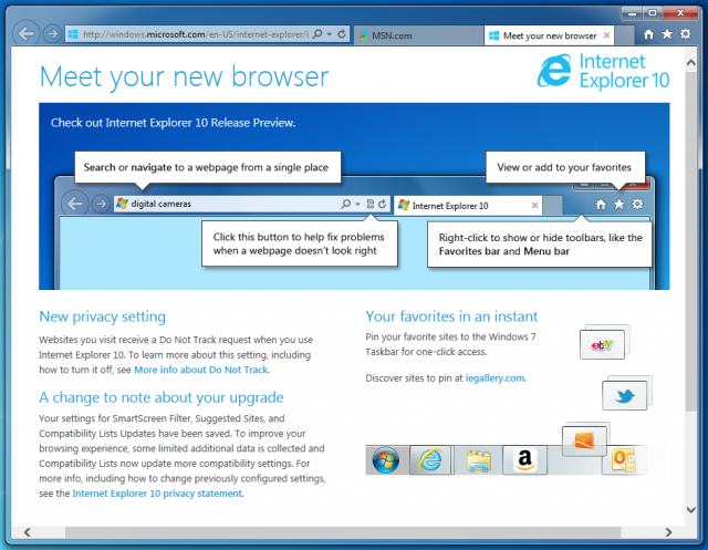 Internet Explorer 10 finally comes to Windows 7