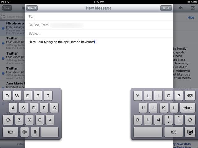 how to fix split keyboard on ipad mini