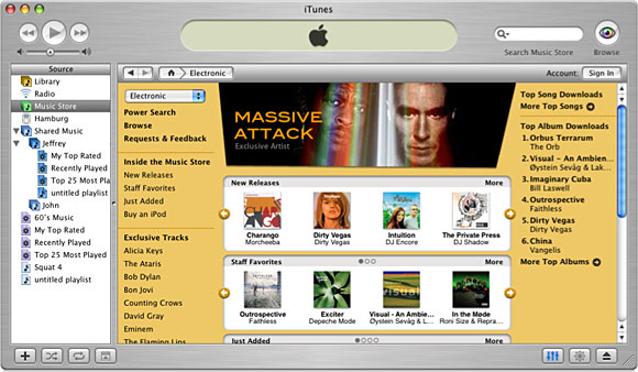 The iTunes Music Store came with the release of iTunes 4.