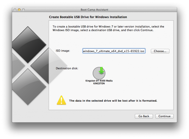 Creating a bootable USB disk to install Windows 7.