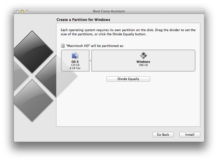 You can't have an OS X partition smaller than the SSD plus a small amount of HDD space.