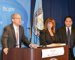 FTC Chairman Jon Leibowitz at a Washington, DC press conference on the support scams.