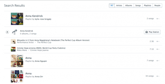 Rdio search: less obstinate.