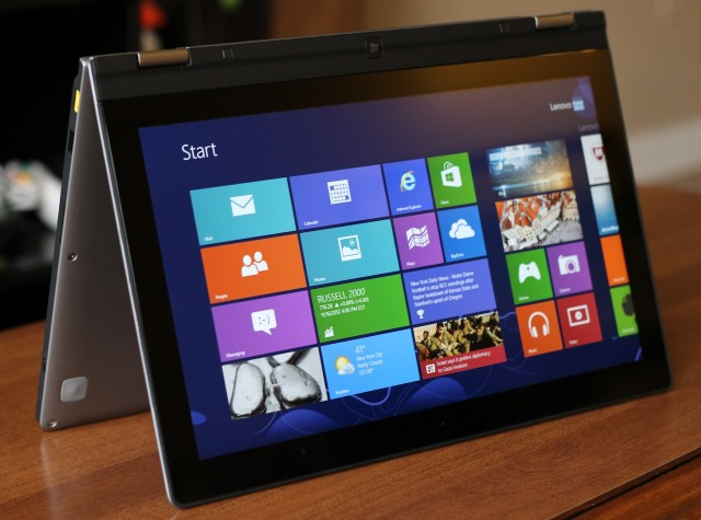 "The Yoga 13 in ""tent"" mode actually makes for a serviceable, small all-in-one."