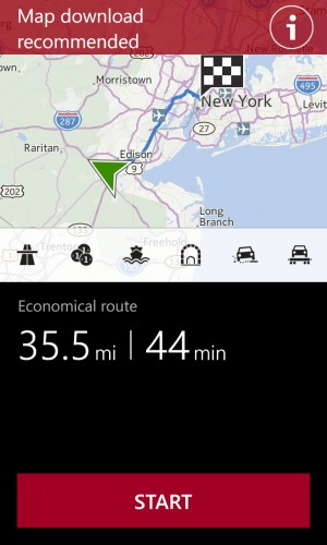 Nokia's Maps app is quite good and features several improvements over the stock Bing maps.