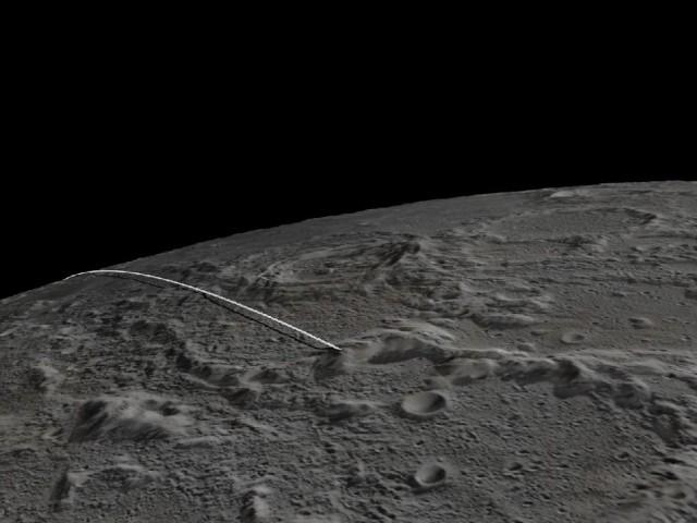 The planned path of GRAIL's final orbit.