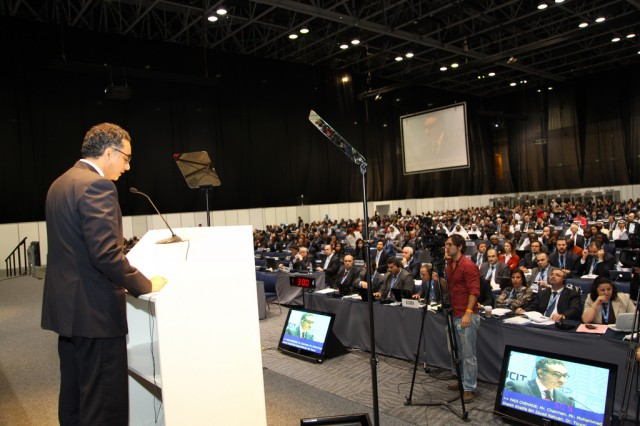 Fadi Chehadé, the president and CEO of ICANN, addressed delegates at the opening ceremony earlier this month.