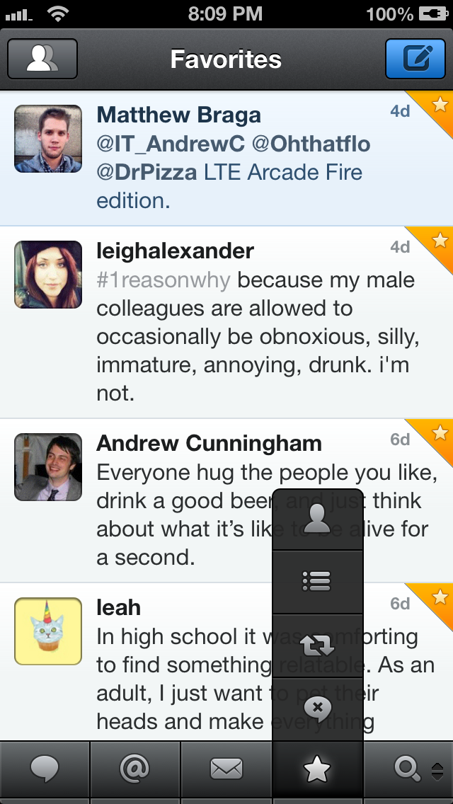 Assign a different button to the bottom panel in Tweetbot.