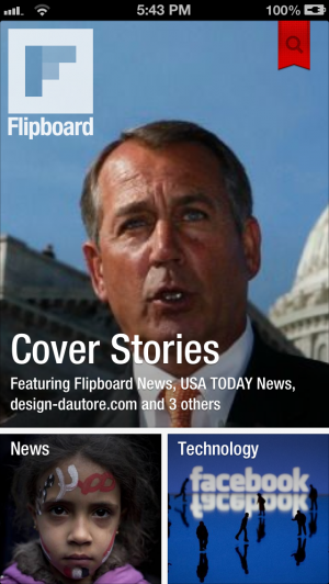 Flipboard dynamically organizes your content into your very own custom homepage.