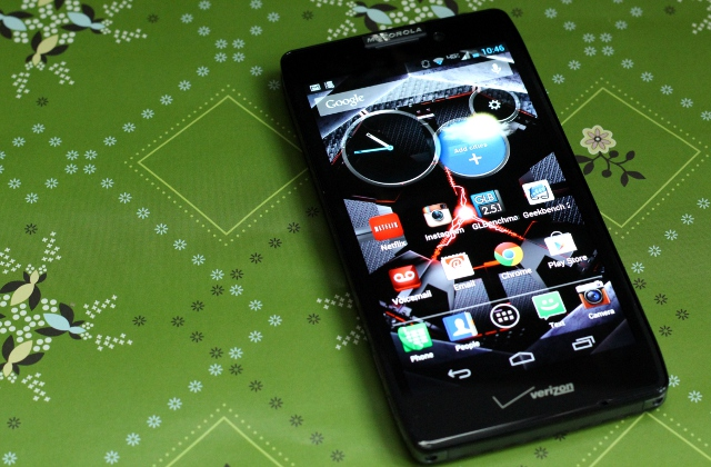 Motorola's Droid Razr Maxx HD looks good from the front, but it's actually a kind of bulky.