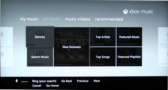 Xbox Music's connect functionality actually enables you to use actual phrases, rather than refer to each tile.