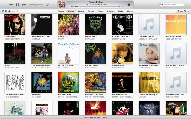 iTunes 11 generally prefers a more visual presentation by default.