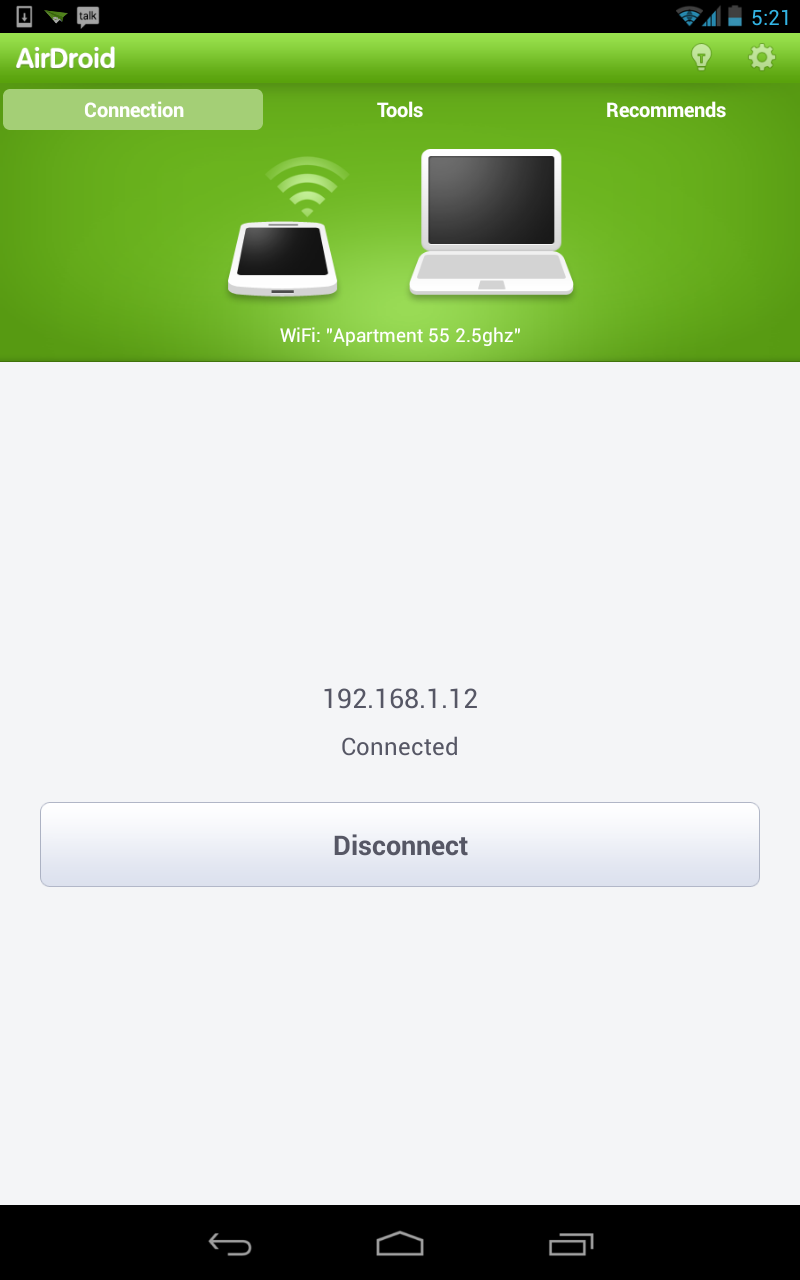 AirDroid Android application.