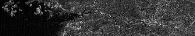 Hydrocarbon river flows across Saturn's moon Titan