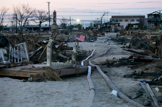 Post-Sandy damage in New York.