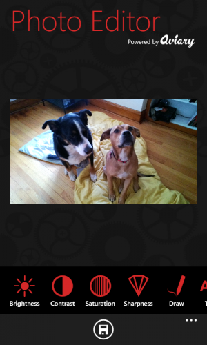 There aren't many good editing apps for Windows Phone, but this app based on the Aviary SDK offers a lot of flexibility.