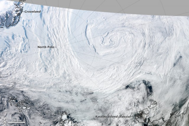 The Great Arctic Cyclone of 2012 churns its way towards the North Pole.