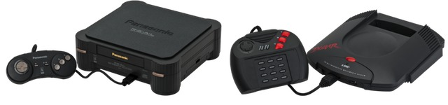 The Panasonic version of the 3DO, left, and the Atari Jaguar, right.