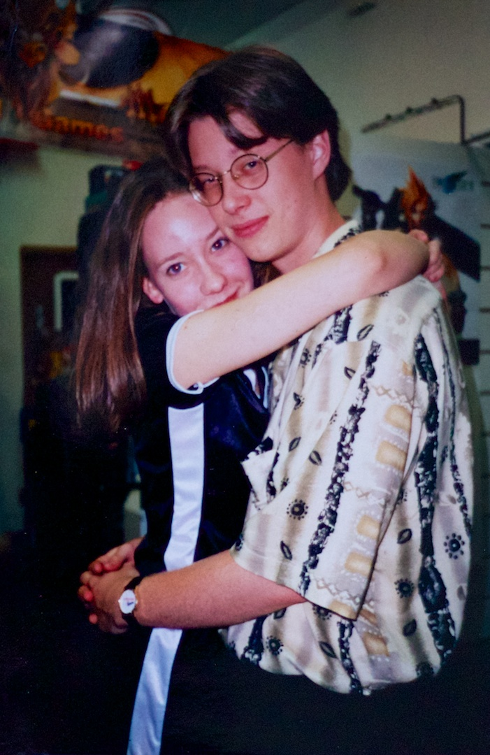 The author and his main squeeze, circa 1997. I had hair straight out of <em>Mallrats</em>.
