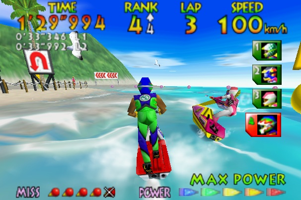 <em>Wave Race 64</em> and its amazing (at the time) water graphics.