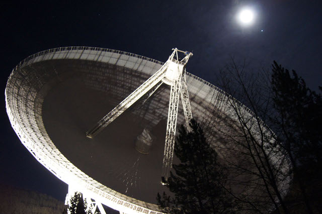 The 100-meter Effenberg radio telescope in Germany, the second-largest fully steerable telescope in the world.