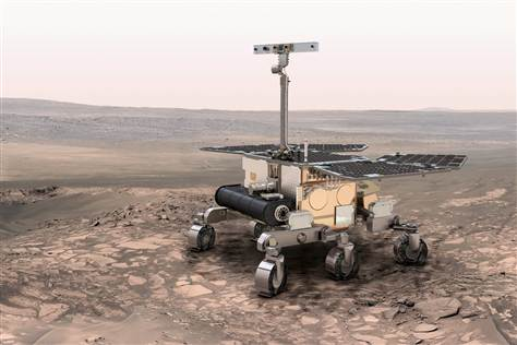 A rendering of the ExoMars rover, in which NASA will play a reduced role.