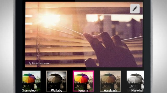 The latest versions of Flickr and Twitter offer Instagram-like filters.