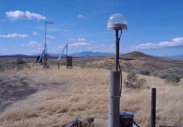 A Continuous GPS  and seismic monitoring station at Great Rift, Idaho can use precision GPS data from NGA to pick up distortions in the earth's crust measured in millimeters.