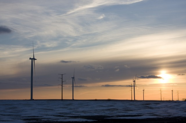 A wind farm in Illinois—a state served by the PJM Interconnection.