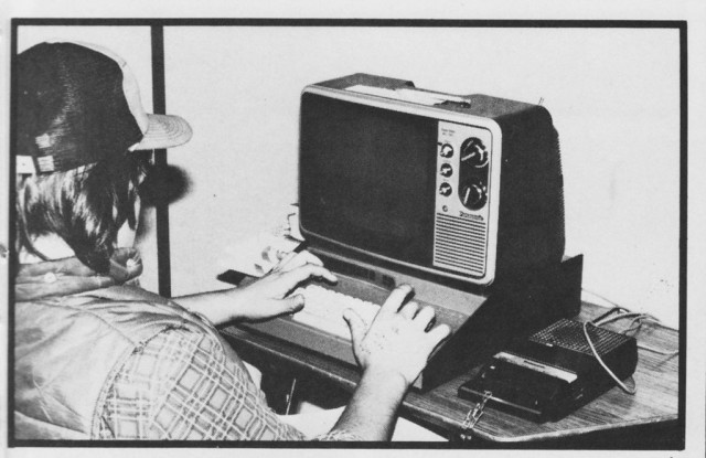 One of the Challenger 2Ps in use at the computer lab at Gateway High School in 1980. (Credit: 1981 Gateway Olympiad)