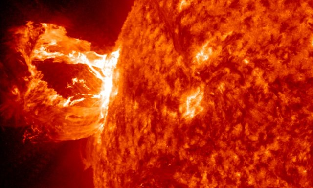 Coronal mass ejection from the Sun in April, 2012.