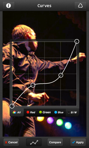 PicsPlay Pro (Android) offers some pretty advanced editing controls for a low price.