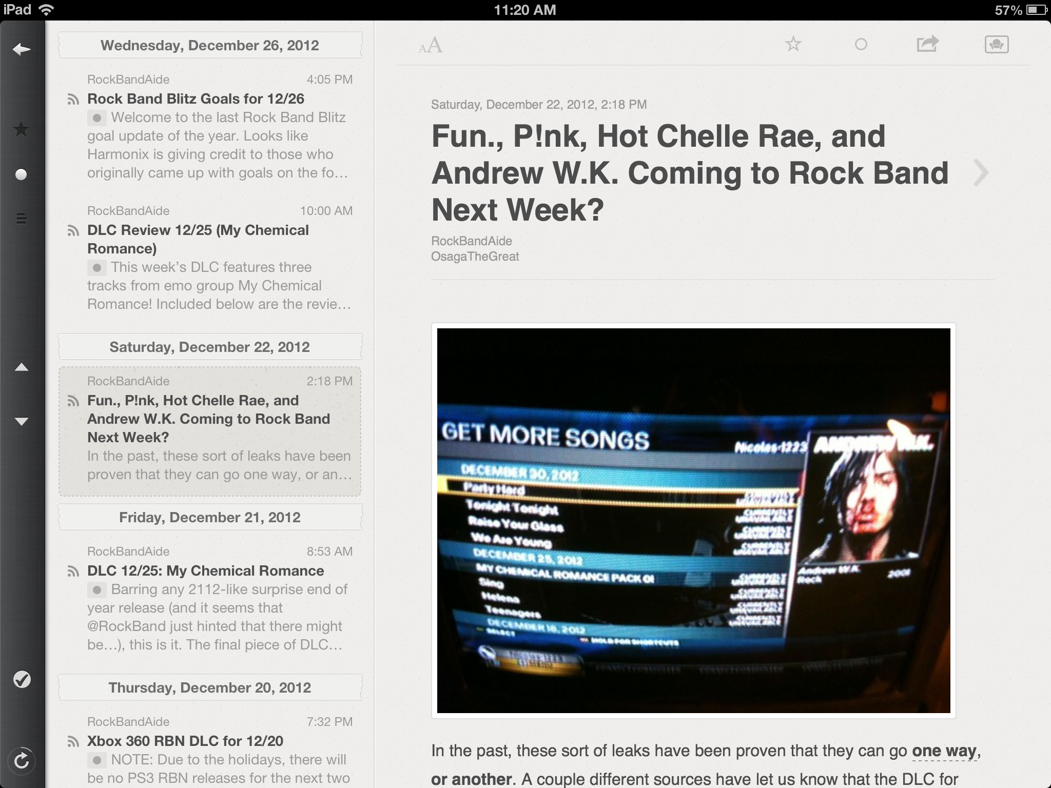 Reeder is great for a more traditional approach to reading RSS feeds.