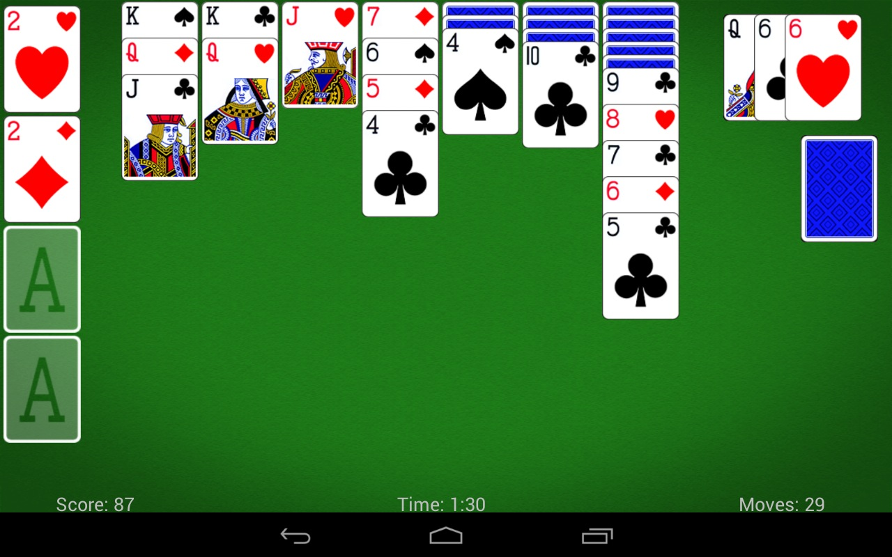 MobilityWare's Solitaire looks good on a tablet.