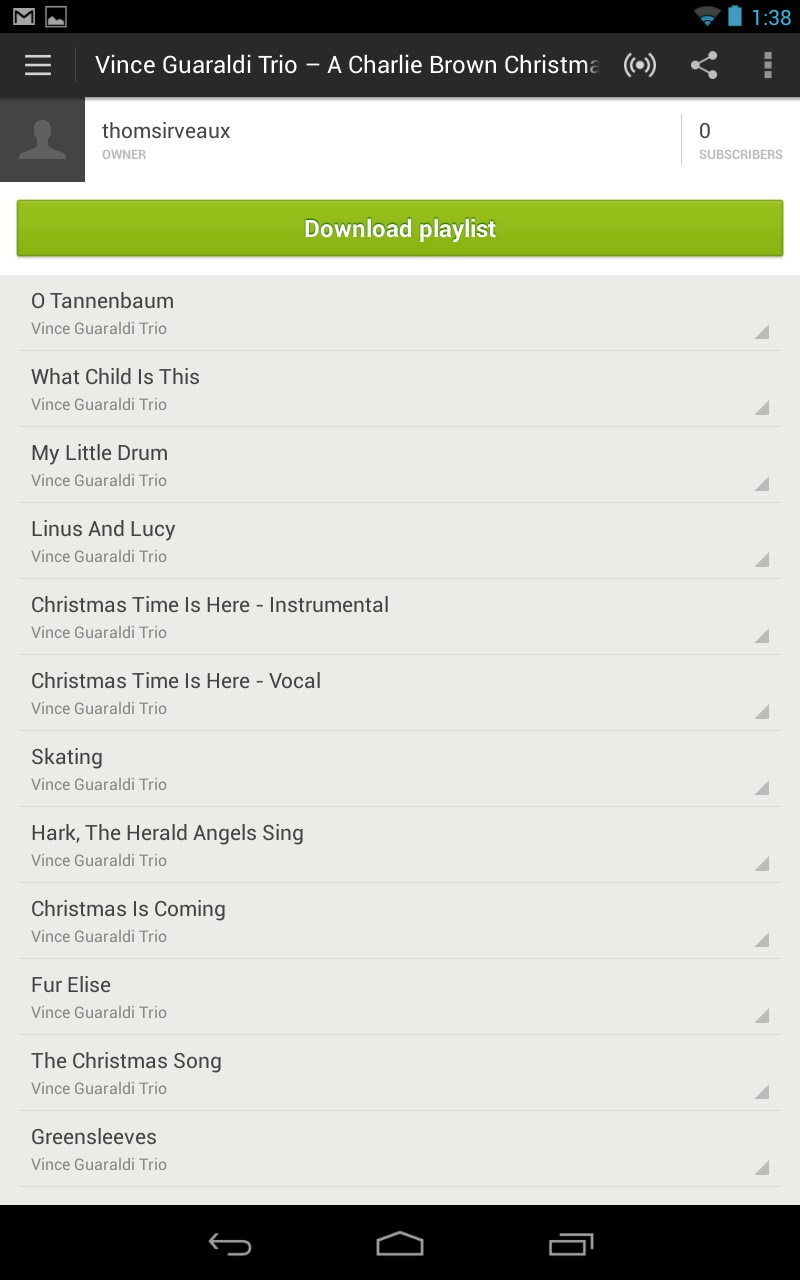 None of the streaming music apps for Android look particularly great on tablets.