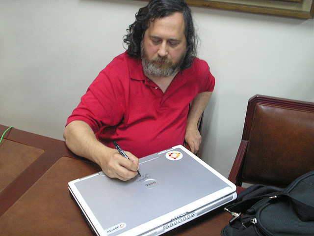 Former Free Software Foundation President Richard Stallman.