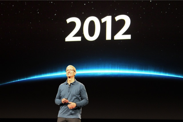 Apple CEO Tim Cook at the end of Apple's iPad mini announcement