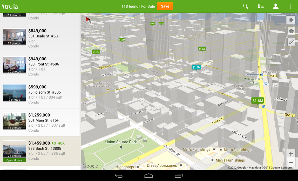 enlarge · screenshot courtesy of google. google announces updated maps api for android developers  ars