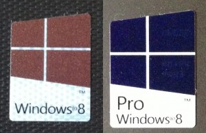 Windows 8's new activation technologies mean that these are the only stickers you'll see on the bottom of a new PC laptop from the major OEMs.