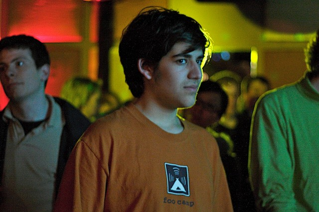 "<a href=""http://arstechnica.com/tech-policy/2013/01/aaron-swartz-and-me-over-a-loosely-intertwined-decade/"">Aaron Swartz</a> at the Creative Commons Salon, San Francisco, in 2006."