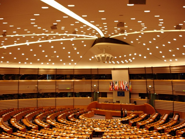 The European Parliament chambers in Brussels.