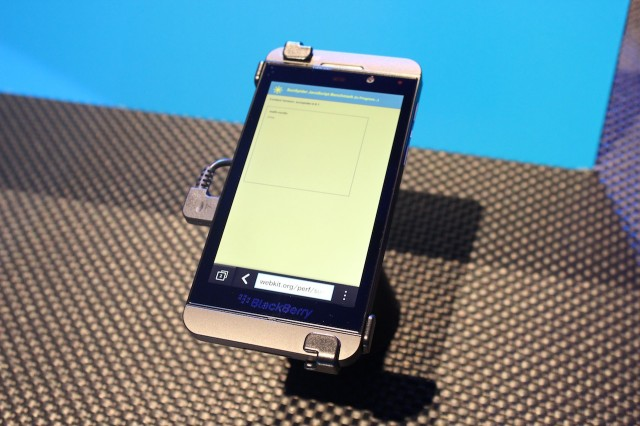 The BlackBerry Z10 churns its way through SunSpider