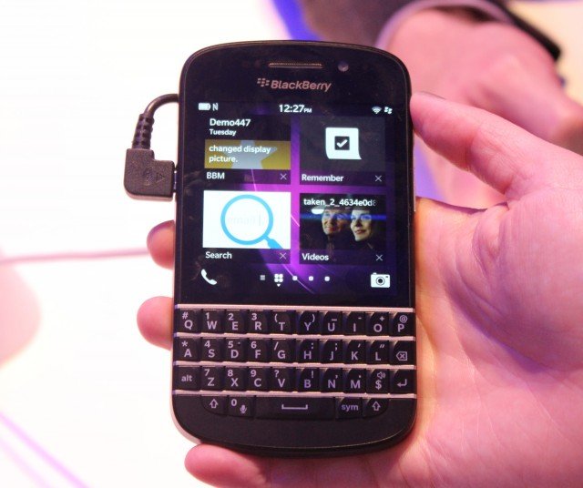 The BlackBerry Q10, with keyboard, coming very soon.