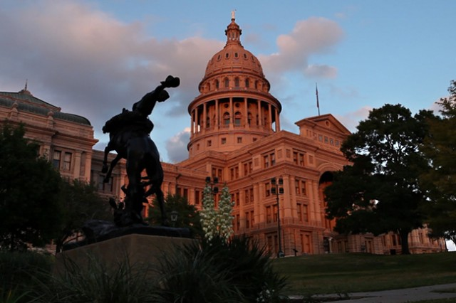The Texas state capital building in Austin, where some of the action takes place.