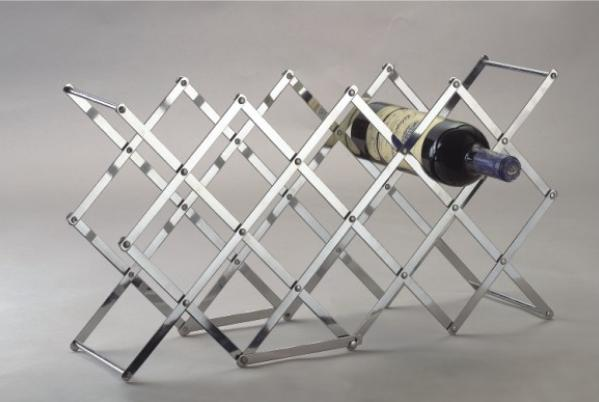 The molecule used in this study has been compared to a folding wine rack.