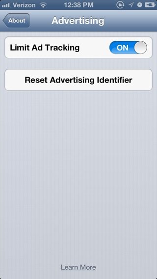 iOS 6.1 now comes with a button that lets you reset the advertisement tracking altogether on your device.