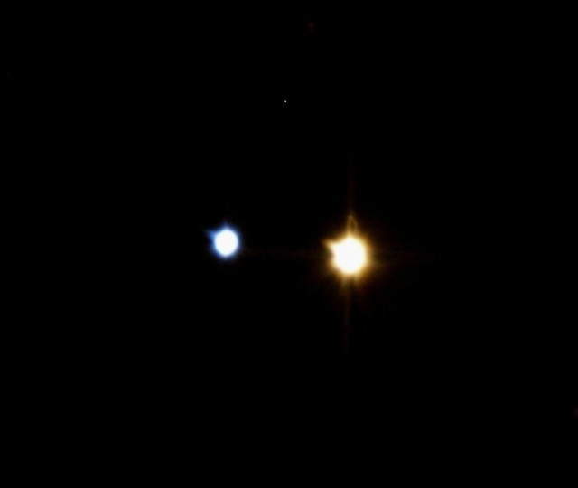 The binary star system Albireo.