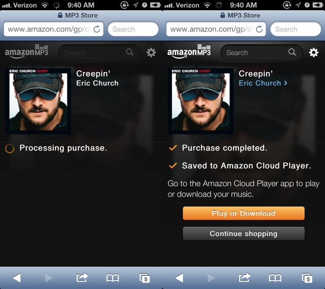 "Hands-on: Amazon's MP3 store ""specifically for iPhone and"