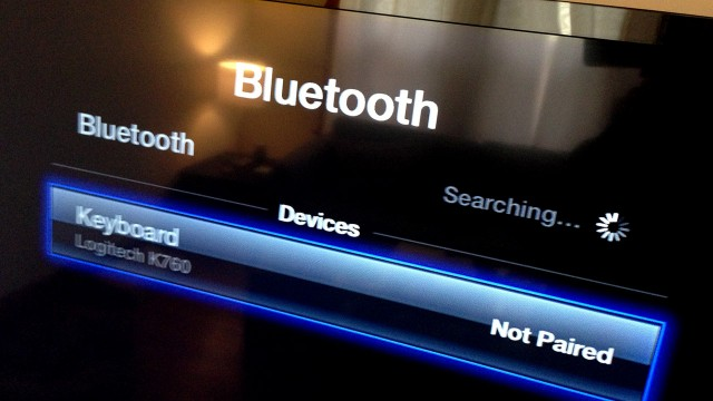 AppleTV's newly added Bluetooth keyboard support works with any Bluetooth keyboard, including the Logitech K760.